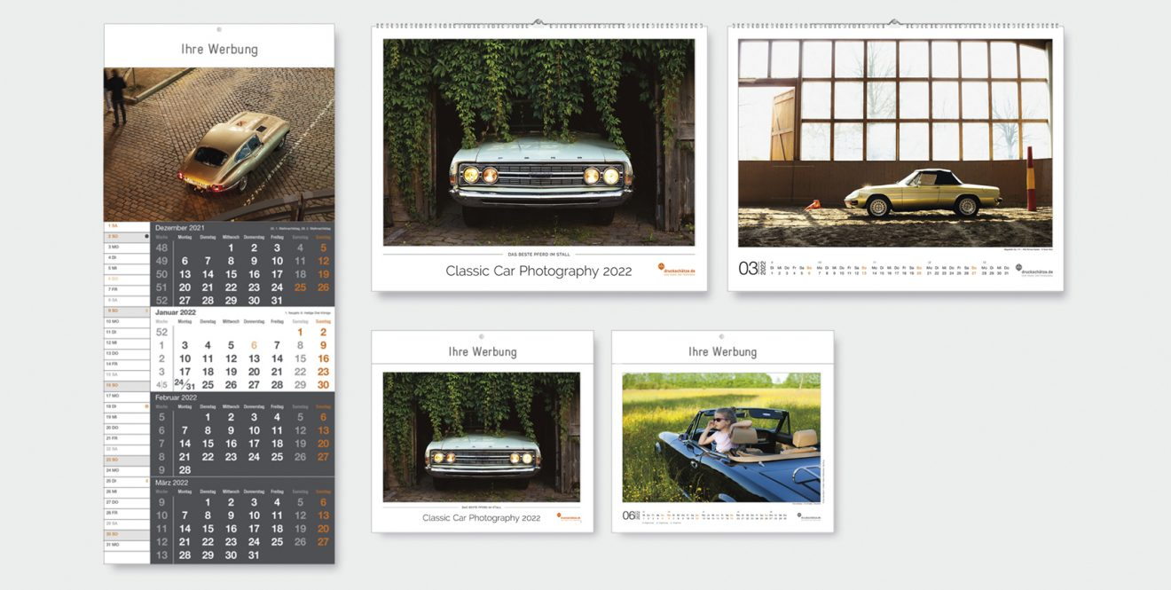 Übersicht Classic Car Photography Kalender